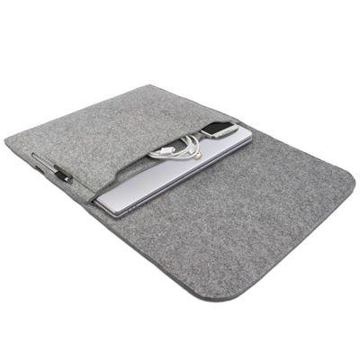 eFabrik Hülle für Apple MacBook Air 13,3 Zoll Schutz Tasche Ultrabook Laptop Case Soft Cover Schutzhülle Filztasche Sleeve Filz hell grau