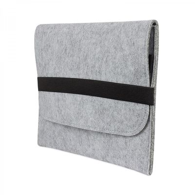 eFabrik Hülle für Samsung Galaxy Tab S2 / Galaxy Tab S2 VE 24,6 cm (9,7 Zoll) Tasche Sleeve Schutzhülle Filz hell grau