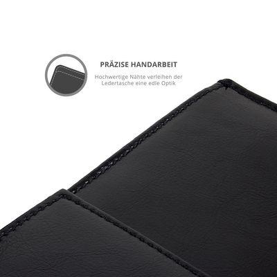 eFabrik Ledertasche für Odys Wintab 10 / Windesk X10 / WinPad V10 10.1 Zoll Tasche Schutz Hülle Cover Sleeve Zubehör (Leder, Schwarz)