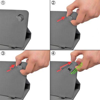 eFabrik Tasche für Dell Venue 10 Pro (10 Zoll) Schutzhülle Schutz Case Hülle Cover Schutztasche Etui Ständer Funktion Leder-Optik grün