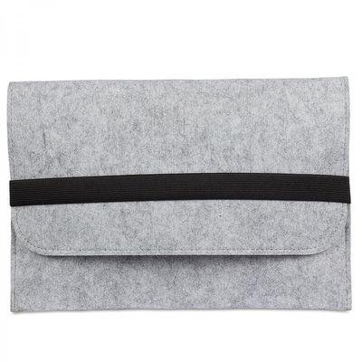 eFabrik Tasche für TrekStor SurfTab wintron 10.1 3G (10,1 Zoll) Volks-Tablet pro Hülle Schutztasche Schutzhülle Cover Case aus Filz Grau