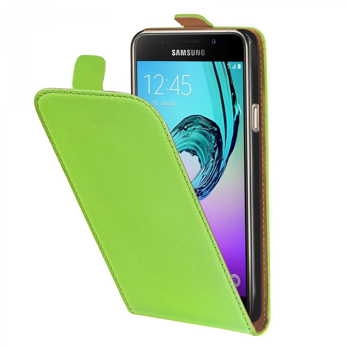 1586088d0fa eFabrik Hülle für Samsung Galaxy A3 (2016) Case Tasche Schutz Flip Cover  Etui Schutzhülle Tasche grün