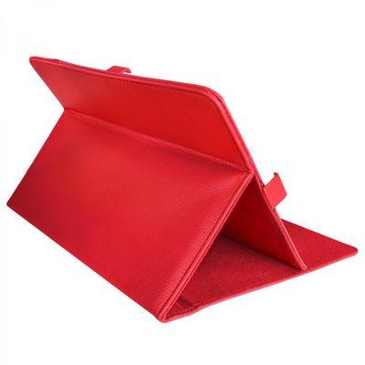 eFabrik Tasche für Medion Lifetab P10506 Cover (MD60036) P10505 Case (MD99984) Hülle Schutzhülle Schutztasche Etui Leder-Optik rot
