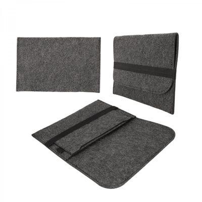 eFabrik Filz Sleeve Hülle Schutz für Apple iPad Air Tasche (9.7 Zoll) dunkelgrau