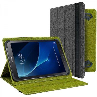 eFabrik Book Cover für Samsung Galaxy Tab A 10.1 Tasche 2016 ( T580N | T585N ) Schutzhülle  Schutztasche Hülle Schutz Case grün grau