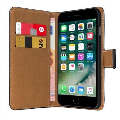 eFabrik Hülle für Apple iPhone 8 / iPhone 7 Tasche Book Case Slim Design Cover Schutzhülle schwarz