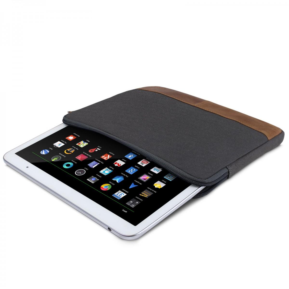 Excellent Royalz Universal Canvas Tasche Fur Tablets 8 9 Zoll 10 Zoll Tablets Bis Max 24Cm X 17Cm X 1 5Cm Design Tablet Sleeve Hulle Aus Canvas Grau Download Free Architecture Designs Itiscsunscenecom
