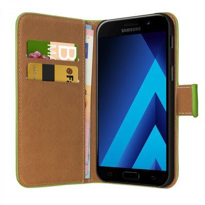 eFabrik Tasche für Samsung Galaxy A3 2017 Case SM-A320 | A320F) Hülle Book Cover Schutztasche Schutzhülle grün