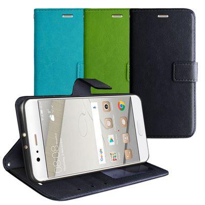 eFabrik Schutzhülle für Huawei P10 Plus Tasche Book Case Schutztasche Aufstellfunktion Fächer