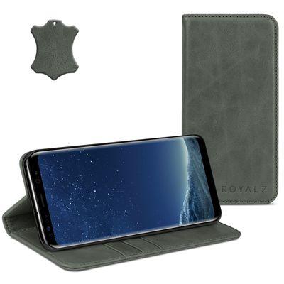 ROYALZ Ledertasche für Samsung Galaxy S8 Plus Lederhülle (für Galaxy S8+ SM-G955F / G955 und Galaxy S8 Plus Duos) Tasche Cover Case Schutzhülle - Magnetverschluss