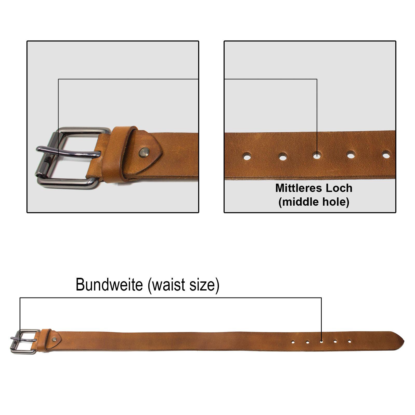 73d80f2a71fc9 ROYALZ Ledergürtel Herren aus robusten 4mm Büffel-Leder