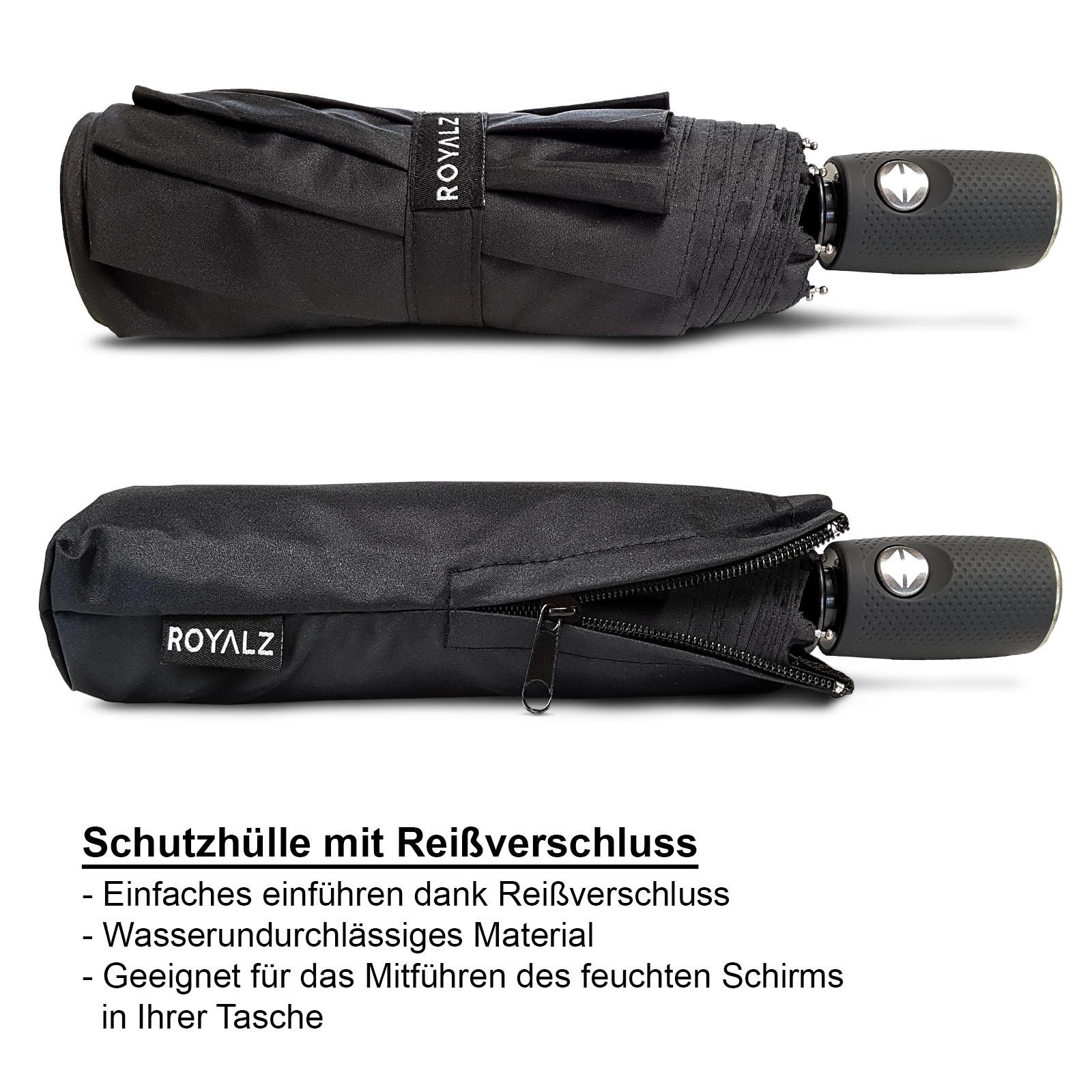 Taschen-Regenschirm braun Farbe mit Schutzhülle