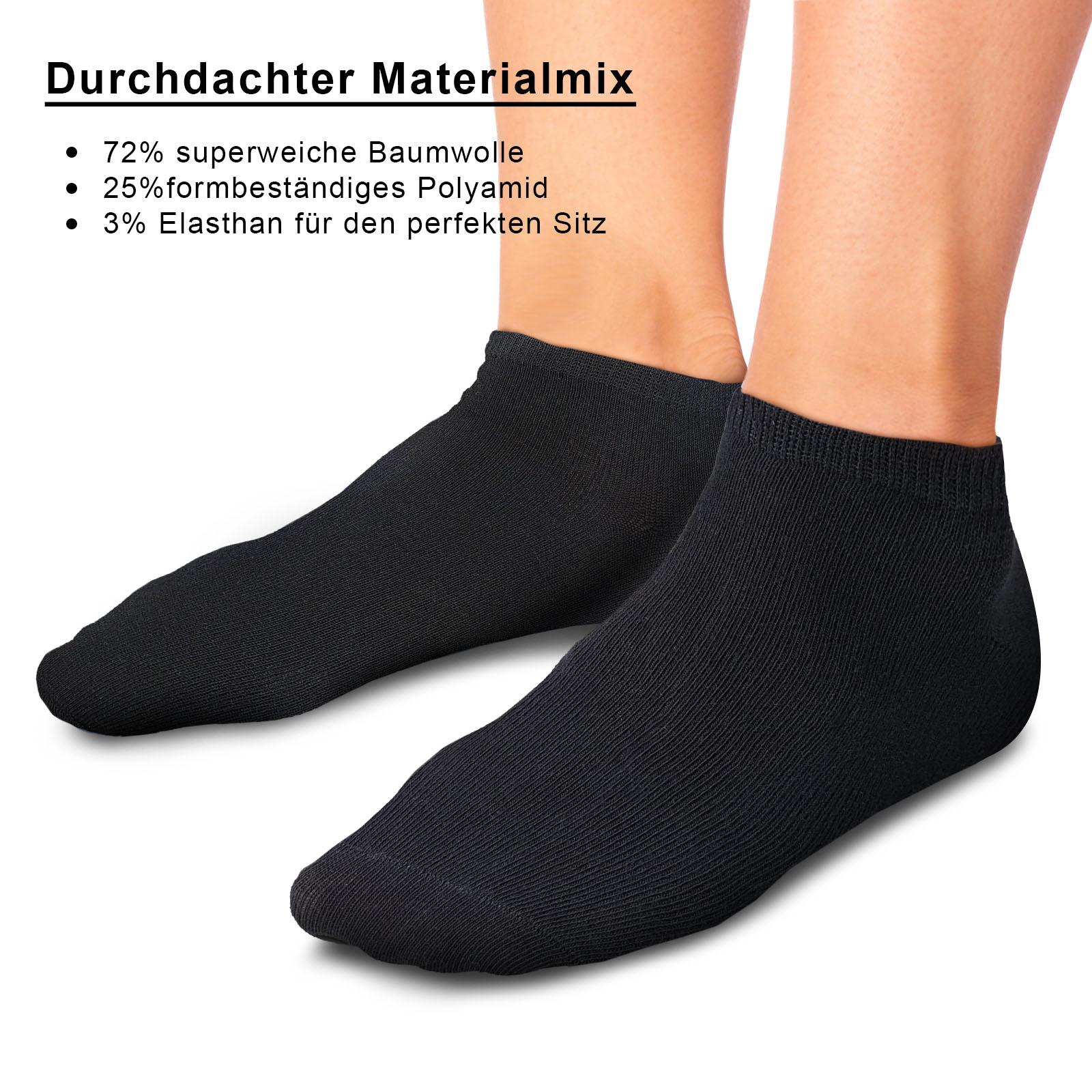 ROYALZ Sneaker Socken 5 Paar für Damen und Herren Füßlinge Oeko Tex Kurz Socken Söckchen 5er Pack