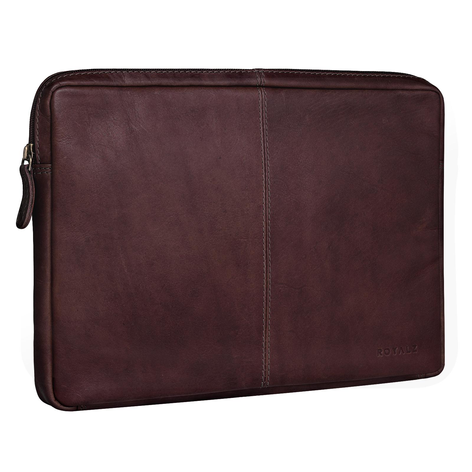 ROYALZ Ledertasche für Microsoft Surface Pro 6 Tasche Leder Hülle 12,3 Zoll Vintage Lederhülle Schutzhülle Sleeve Etui Retro