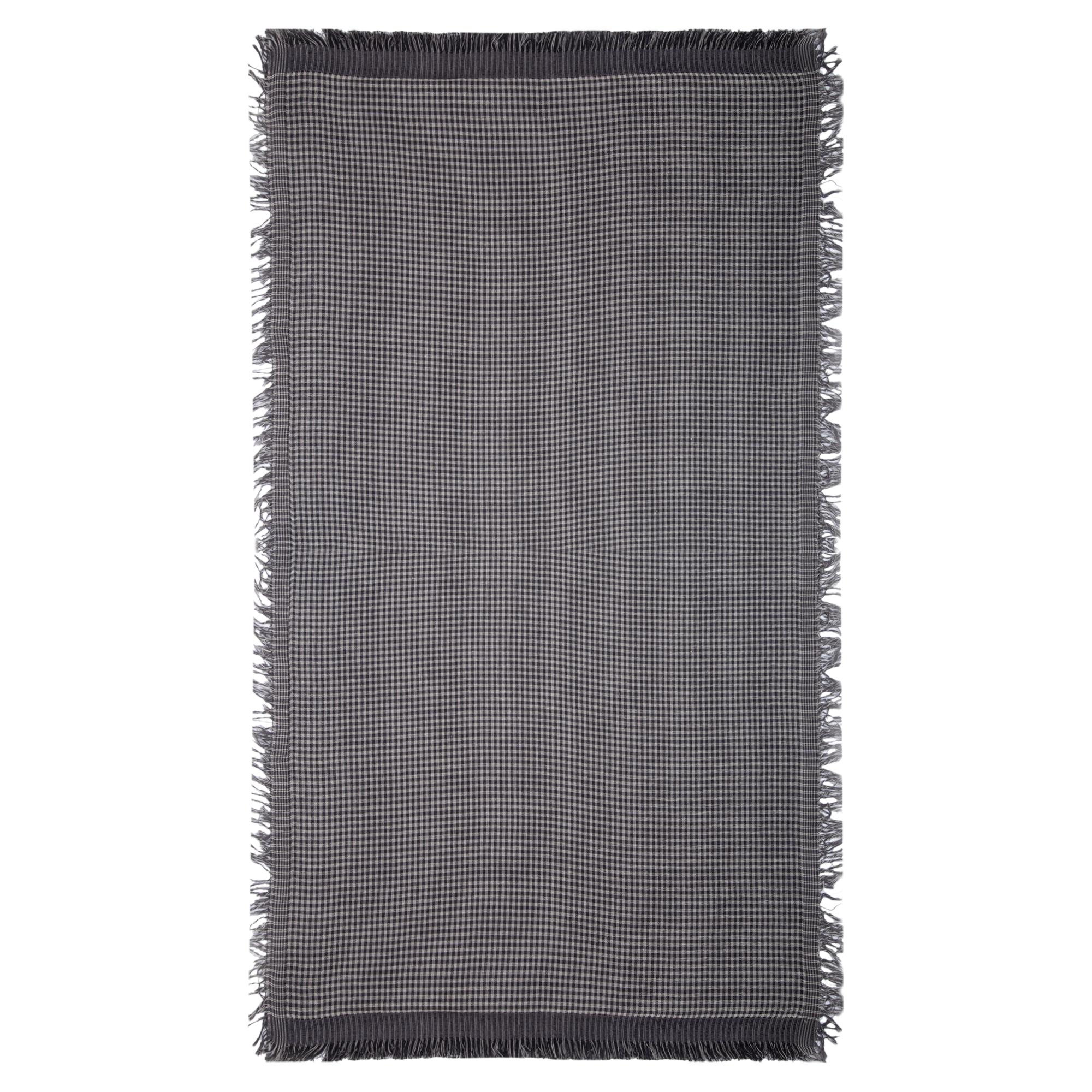 Halstuch schwarz weiß grau Streifen Schal Schaltuch