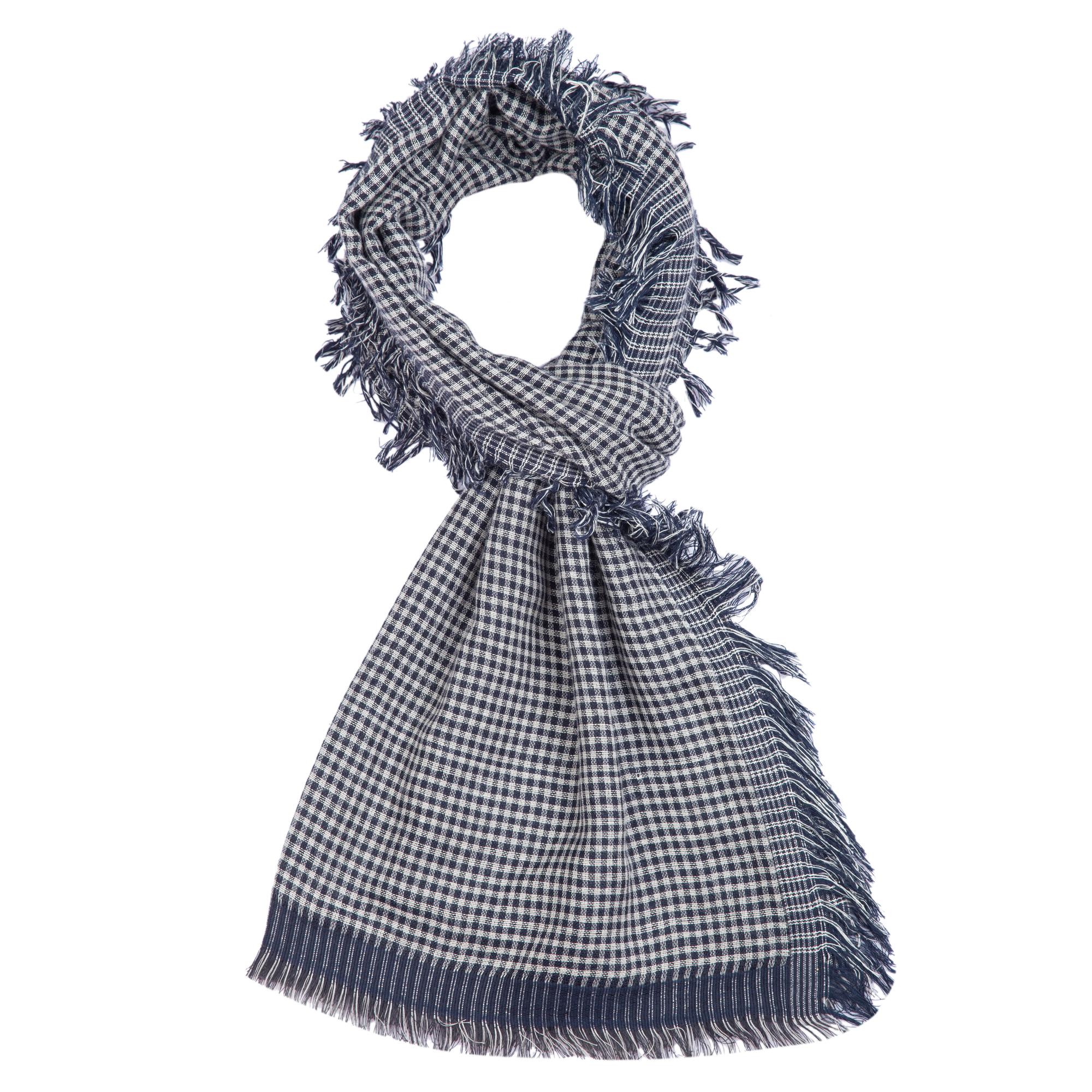 Schaltuch Streifen weiß grau  schwarz Schal Halstuch