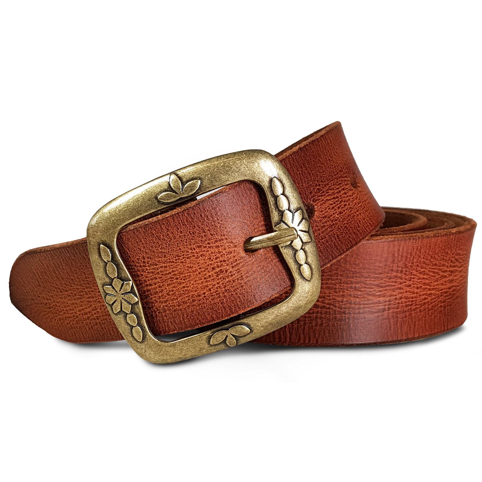 modisches und attraktives Paket erstaunliche Qualität kinder ROYALZ Vintage Ledergürtel für Damen aus Büffel-Leder 38mm breit  Jeans-Gürtel Damen kürzbar Voll-Leder