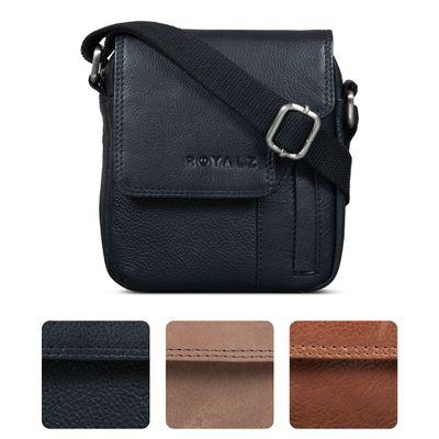 ROYALZ Vintage Herren Umhängetasche Klein Leder Männer Schultertasche Mini Seitentasche zum Umhängen
