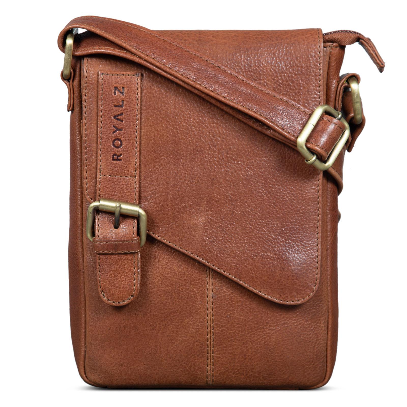 BRASIL´s Umhängetasche aus LEDER Schultertasche MESSENGER BAG Zeitloses Design