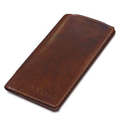 ROYALZ Vintage Leder Etui für Apple iPhone X / iPhone XS Schutzhülle (5,8 Zoll) 6 Kartenfächer Sleeve Case Ledertasche Hülle Portemonnaie